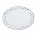 Skyros Designs Alegria Large Oval Platter Simply White with Silver