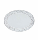Skyros Designs Alegria Small Oval Platter Simply White with Silver