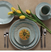 Skyros Designs Cantaria Sheer Blue Dinnerware
