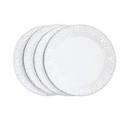 Skyros Designs Historia Assorted Salad or Dessert Plates (4) - Paper White