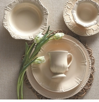 Skyros Designs Isabella Yellow Creme Dinnerware