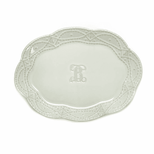 Skyros Designs Legado Platter Engraved (Select Your Initial)
