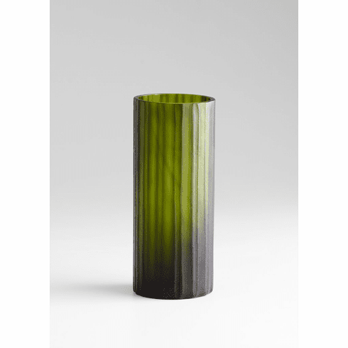 Small Cee Lo Green Glass Vase by Cyan Design