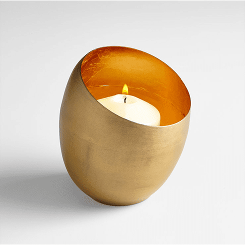 Small Copper Minerva Candleholder by Cyan Design