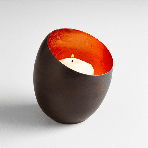Small Gold Minerva Candleholder by Cyan Design
