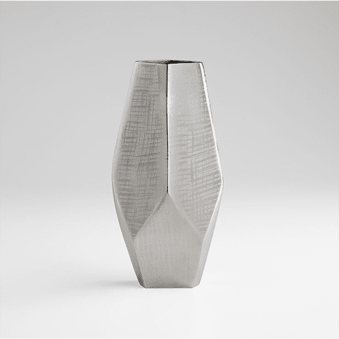 Small Nickel Celcus Vase by Cyan Design