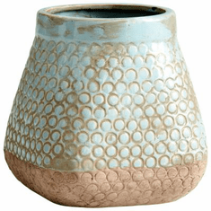 Small Pershing Blue Terra Cotta Planter by Cyan Design
