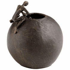 Small Searching Man Bronzed Iron Sculpture by Cyan Design