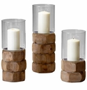 Small Stacked Hex Nut Candleholder by Cyan Design
