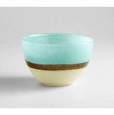 Small Turquoise Earth Blue Glass Vase by Cyan Design