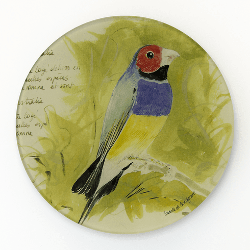 Song Bird  Round Decorative Glass Plate by Working Title