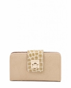 Spartina 449 Croc Flip-Lock Wallet Blonde