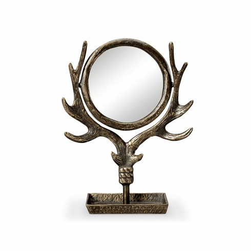 SPI Home Antler Table Mirror