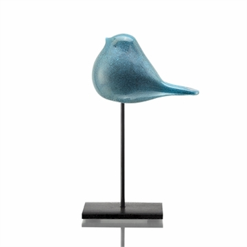 SPI Home Art Glass Big Blue Bird Desk Decor