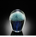 SPI Home Art Glass Blue Jellyfish 4.5 inch Glow Paperweight