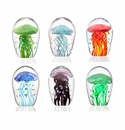 SPI Home Art Glass Mini Jellyfish Collection Set of 6