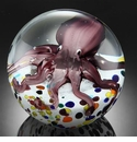 SPI Home Art Glass Octopus Sphere/Paperweight