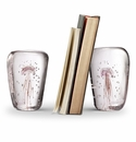 SPI Home Art Glass Pink Jellyfish Wedge Bookend