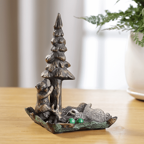 SPI Home Bear and Tree Jewelry Tray and Holder