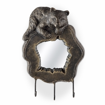 SPI Home Bear Cub Wall Mirror and Hook