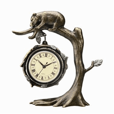 SPI Home Bear on Tree Clock