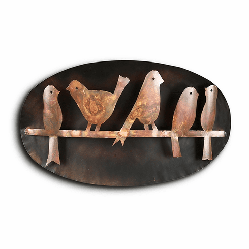 SPI Home Bird Quintet on Branch Wall Hanging