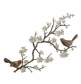 SPI Home Birds & Cherry Blossom Wall Plaque