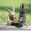 SPI Home Booklover Rabbit Garden Lanter