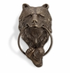SPI Home Brass Bear Head Doorknocker