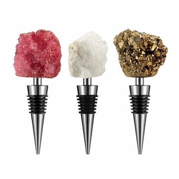 SPI Home Broken Geode Agate Wine Stopper
