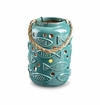 SPI Home Ceramic Fish Pattern Lantern