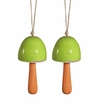 SPI Home Ceramic Green Mushroom Windbell