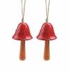 SPI Home Ceramic Red Mushroom Windbell