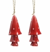 SPI Home Ceramic Red Mushroom Windchime