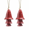 SPI Home Ceramic Red Spotted Mushroom Windchime