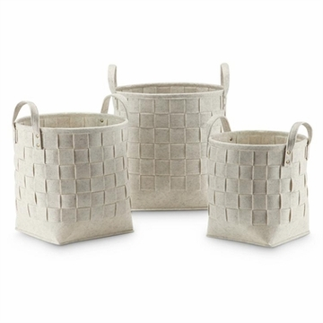 SPI Home Crosshatch Beige Decor Tote Bags