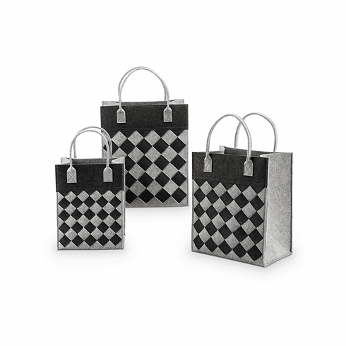 SPI Home Crosshatch Diamond Pattern Decor Tote Bags