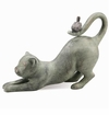 SPI Home Crouching Cat with Bird