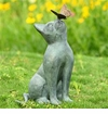 SPI Home Curiosity Garden Sculpture Cat & Butterfly