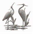 SPI Home Double Garden Heron Wall Plaque