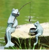 SPI Home Fishing Frog Mama & Baby Garden Sculptures