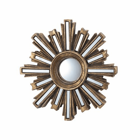 SPI Home Gold Deco Sunburst Wall Mirror