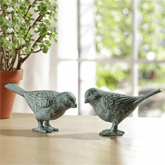 SPI Home Large Chatty Birds - Verdi Pair