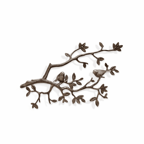 SPI Home Lovebirds on Branch Wall Plaque