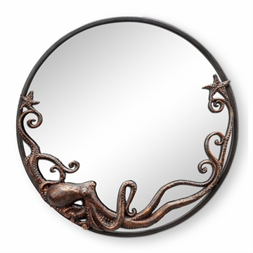 SPI Home Octopus Round Wall Mirror