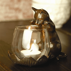 SPI Home Peeking Cat with Votive