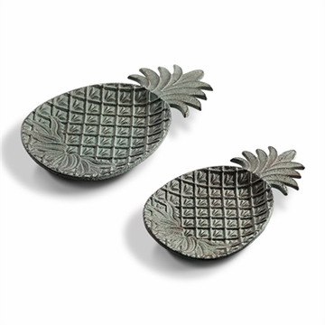 SPI Home Pineapple Dishes Set of 2