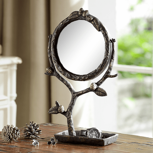 SPI Home Pinecone and Branch Vanity Mirror