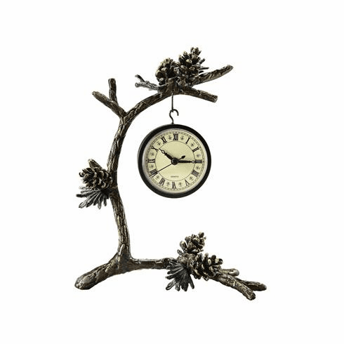 SPI Home Pinecone & Branch Clock