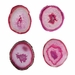 SPI Home Pink Agate Coasters Set of 4